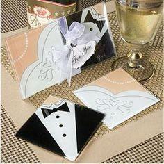 Wedding Gifts Bride Bride groom  Cup Mat 2PCS  www.bizarrestuffs.com