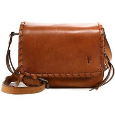 Frye Layla Concho Leather Crossbody Bag (€315) ❤ liked on Polyvore featuring bags, handbags, shoulder bags, apparel & accessories, cognac, leather crossbody, leather purse, leather cross body purse, brown crossbody purse and leather crossbody handbags