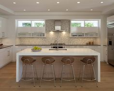 waterfall counter  Contemporary Kitchen Waterfall Counter Design, Pictures, Remodel, Decor and Ideas