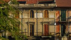 """Beautiful buildings in Sora, just past the main park, beyond the other """"via del Corso""""."""