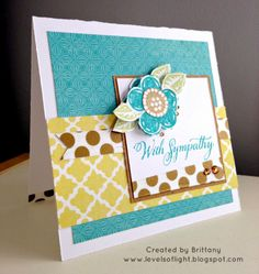 Levels of Light: CTMH Skylark - Set of Three Cards - With Sympathy card w/Funky Blossoms stamp set