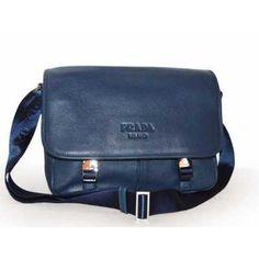 Prada Vitello Diano Leather Messenger Handbag VA0768 Dark Blue (BALTICO) c8aadc37e966c