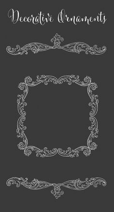 Gorgeous Royalty Free Images - Decorative Frame Border and Divider Ornaments | Oh So Nifty Vintage Graphics