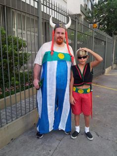 Childrens Asterix Style Blue Obelix Gaul Costume DOESN/'T INCLUDE HELMET OR HAIR