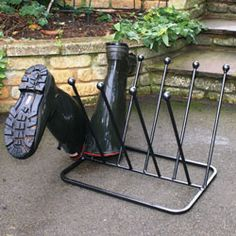 Five Pair Welly Boot Stand
