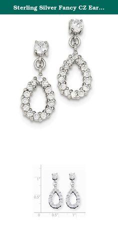 Sterling Silver Fancy CZ Earrings. Sterling Silver Fancy CZ Earrings.