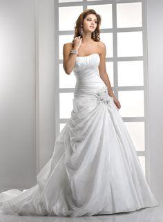 Bordeaux Metallic Taffeta Ruched A-line Wedding Dress