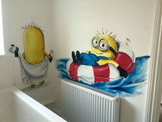 More from the minion bathroom by me drews wonder walls