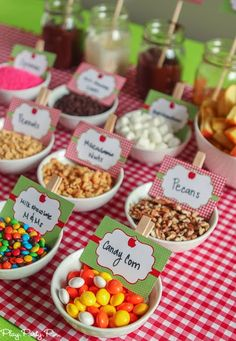 Build your own caramel apple nacho bar idea from playpartypin.com