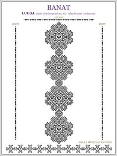 ie de Banat Cross Stitch Borders, Cross Stitching, Cross Stitch Patterns, Embroidery Motifs, Machine Embroidery, Embroidery Designs, Antique Quilts, Embroidery Techniques, Crochet Motif