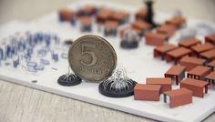 """Фрагмент макета жилого комплекса """"Лукино-Варино"""". Масштаб: 1:500 Для придания макету реалистичности мы изготовили множество малых архитектурных форм для детских и спортивных площадок. Для производства использовался пластик ПВХ толщиной 1мм, полистирол толщиной 0,5мм и картон. Все объекты окрашены акриловой краской вручную!#моделирование, #моделизм #макетздания #макетдома #макетирование #architecture #modeling #Modelism #building layout #house layout #breadboarding #scalemodels #workshop…"""