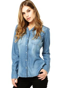 1cb29643c06c6 Calvin Klein Jeans Jeans Feminino, Camisa Jeans Feminina, Biquini, Moda,  Azul