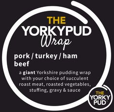 Food MenuAllergen Info sandwiches pork stuffing, apple sauce & crackling turkey stuffing & cranberry sauce ham stuffing & English mustard beef stuffing & horseradish sauce no bread your choice of meat served with vegetables, roast potatoes & a dash of gravy pork / turkey / beef / ham YORKSHIRE PUDDING a giant Yorkshire pudding filled … Yorkshire Pudding Filling, Yorkshire Pudding Wrap, Mini Yorkshire Puddings, Beef Ham, Turkey Ham, Turkey Stuffing, Roasted Meat, Roasted Turkey, Roasted Vegetables