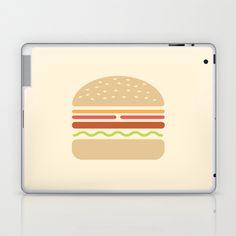 #62 Hamburger Laptop & iPad Skin by MNML Thing - $25.00
