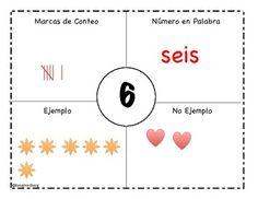 Number Sense Books for #1-10 (Spanish)