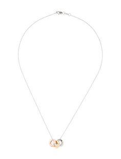 Tri-Color Diamond Pendant Necklace
