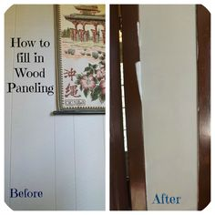 How to fill in wood paneling using joint compound