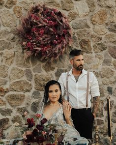 How gorgeous is this couple!?  Featured on @greenweddingshoes! (Design & Planning: @stopandstareevent | Photography: @heirlumephotography | Venue: @cielofarms | Floral Design: @amynicolefloral | Real Couple Models: @mariel_kat and @dibella15 | Hair and Makeup: @cheektocheekartistry | Rentals: @sweetsalvagerentals | Tabletop Rentals: @partypleasers | Dress: @shopgossamer | Jewelry & Rings: @bjoijewelry | Bakery: @sugarlabbakeshop | Stationery: @hue_creative | Linen: @latavolalinen)