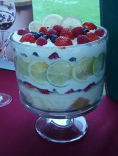Citrus Berry Trifle in a Pampered Chef Trifle Bowl