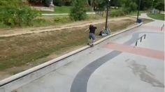 놀라운 스케이트보드 그라인드 기술