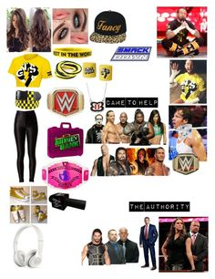"""""""Kaitlyn and The Family saving her husband Dean from The Authority after they demand he forfeit his title to Seth Rollins"""" by kaitlyngilmore ❤ liked on Polyvore featuring H.I.P., Beats by Dr. Dre and Kane"""