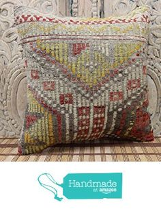 Oriental kilim pillow cover 16x16 Bohemian Kilim pillow cover Turkish Handmade kilim Pillow Cover from Kilimwarehouse http://www.amazon.com/dp/B0198C619Y/ref=hnd_sw_r_pi_dp_nrsCwb02705Q7 #handmadeatamazon