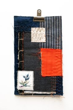 Beth Charles, 'Postcard from Japan' #1, machine and hand stitch on Japanese silk and cotton.