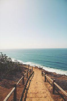 Marches vers l'ocean #chemin #marche #plage #ocean #ete #summer #sea