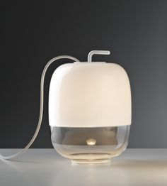 New #GongSmall blown glass table lamp by #Prandina, available also in #silver and #copper
