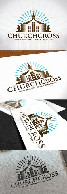Cross Church Creative Logo by BossTwinsMusic - Three color version: color, greyscale and single color.- The logo is 100 resizable.- You can change text and colors very easy u