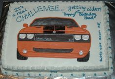 mopar cakes | My husband is a Mopar car guy. It was a surprise. I made this ...