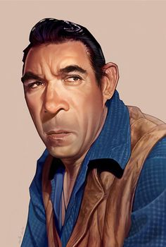 Anthony Quinn Caricature on Behance ★ Find more at http://www.pinterest.com/competing/