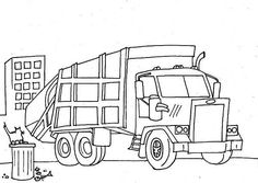 Garbage Truck Coloring Page (printable), Mike loved coloring the ...