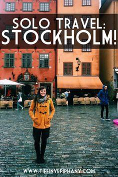 Solo travel in Stockholm, Sweden.