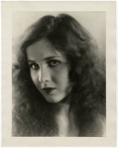 Vintage Oversized Mary Brian 1929 Wild Sensuous Close Up Photograph E.R. Richee