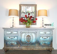 Specializing in Custom and Repurposed Home Furnishings and In- Home Services handcrafted or upcycled in our South Carolina Home Studio. Metallic Painted Furniture, Chalk Paint Furniture, Interior Decorating, Interior Design, Home Decor Store, Abstract Styles, Unique Home Decor, Furniture Makeover, Bedroom Furniture