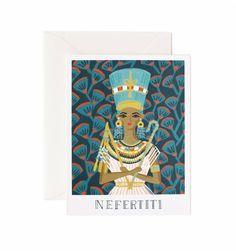 NEFERTITI included in Queens cards from Rifle Paper Co. in LOVE Collection. Valentine's Day gift idea for her!