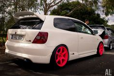Honda Civic EP3 Type-R on Fluro Pink Rays Gram Light 57D Wheels