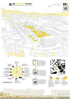 EUROPAN Deutschland Urban planning is most of methods modest funds as well as towns come Urban Design Diagram, Urban Design Plan, Project Presentation, Presentation Layout, Presentation Boards, Architecture Drawings, Architecture Design, Ideas Paneles, Urbane Analyse