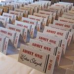 escort cards for a Hollywood themed wedding