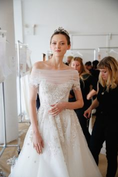Marchesa, Backstage, Bridal Fall 2016, October 2015.