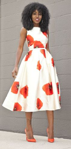 Poppy Print Dress Style by Style Pantry