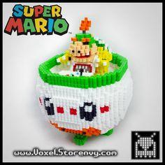 3D Bowser Jr.- SuperMario perler beads by VoxelPerlers