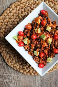Rice, Black Bean and Avocado Bowl with Fat-Free 3 Ingredient Sweet Chili Mustard Sauce! Whole Food Recipes, Dinner Recipes, Cooking Recipes, Vegetarian Recipes, Healthy Recipes, Avocado Recipes, Spiced Rice, Rice Ingredients, Healthy Eating