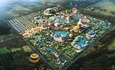 Planet Coaster, City Layout, Park Resorts, Parking Design, Historical Images, Birds Eye View, Anime Scenery, Urban Planning, Amusement Park