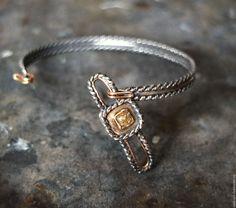 Купить BUTTONS браслет # 2 (алмаз, золото, серебро, латунь) - браслет с пуговицей