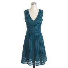 Striped eyelet dress : day | J.Crew