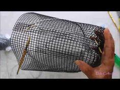 Cara Membuat Tas Rajut Jaring Corak 3D 24 Bagian1 - YouTube