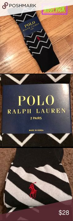 ✳️ MENS NWT! Polo 2-pack Socks NWT! 🌟Host Pick Men's Style 5/1🌟 NWT! 2 pairs of Polo Ralph Lauren socks in 2 patterns of black & white. Great for a fun look with a suit for work or to wear with shorts for your sporty guy. Brand new. Polo by Ralph Lauren Underwear & Socks Dress Socks