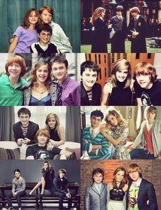 Para que ama Harry Potter o trio de ouro